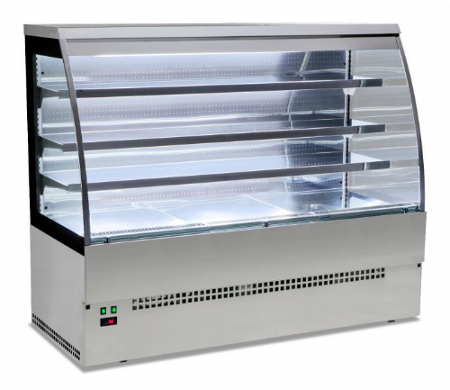 Sterling Pro EVO-SELF-150-SS Stainless Steel Self Service Patisserie Counter, 1.5m